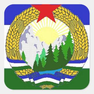 Flag of Socialist Cascadia Square Sticker