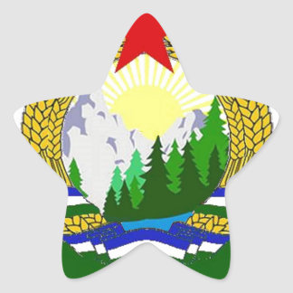 Flag of Socialist Cascadia Star Sticker