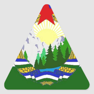 Flag of Socialist Cascadia Triangle Sticker