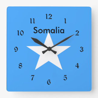 Flag of Somalia, labeled Square Wall Clock