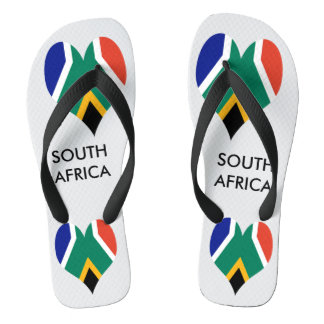 Flag of South Africa Bokke Flip Flops