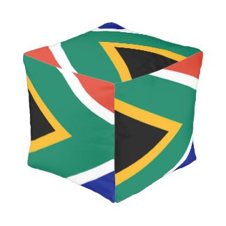 Flag of South Africa Bokke Pouf