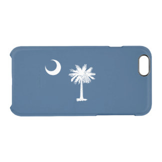 Flag of South Carolina Clear iPhone Case