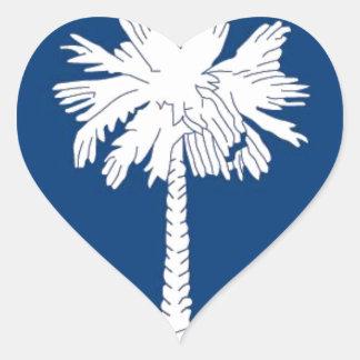 Flag Of South Carolina Heart Sticker