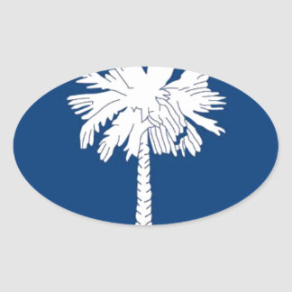 Flag Of South Carolina Oval Sticker