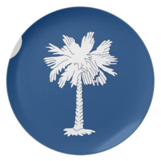 Flag Of South Carolina Plate