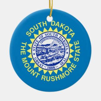 Flag Of South Dakota Ceramic Ornament