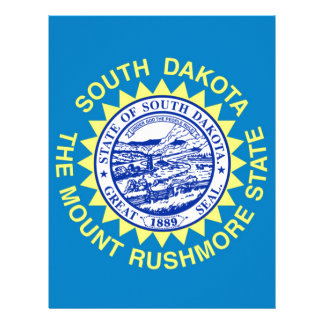 Flag Of South Dakota Letterhead