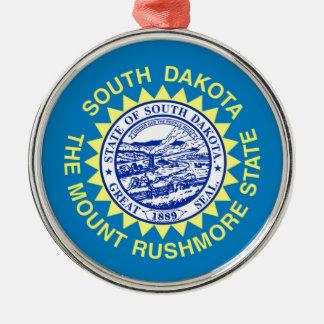 Flag Of South Dakota Metal Ornament