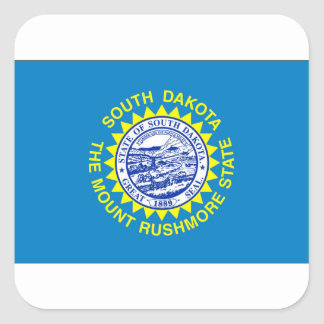Flag Of South Dakota Square Sticker