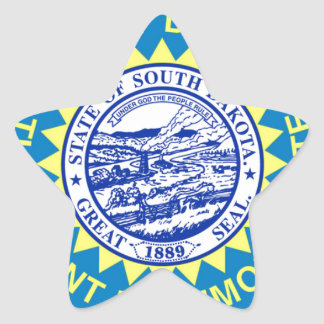 Flag Of South Dakota Star Sticker