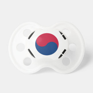 Flag of South Korea - 태극기 - 대한민국의 국기 Pacifier