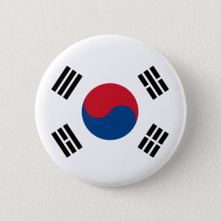 Flag of South Korea 2 Inch Round Button