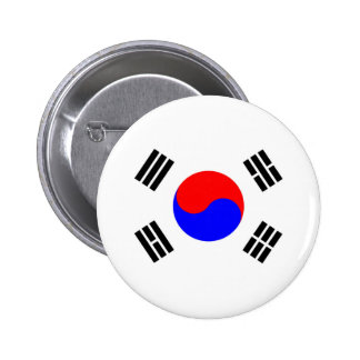 Flag of South Korea 2 Inch Round Button