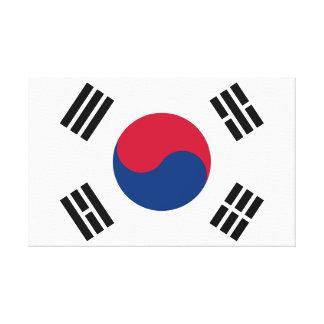 Flag of South Korea Canvas Print