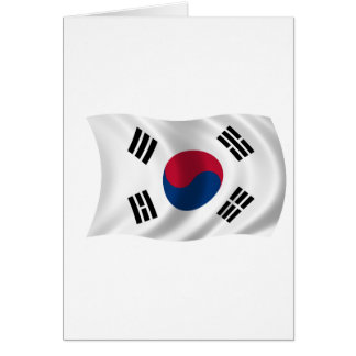 Flag of South Korea Card