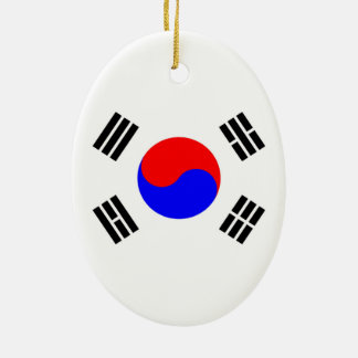 Flag of South Korea Ceramic Ornament