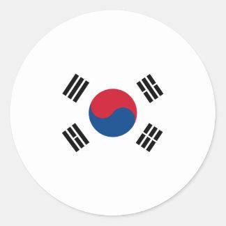 Flag of South Korea Classic Round Sticker