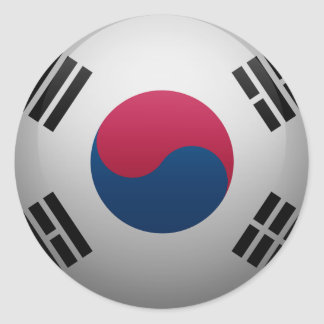 Flag of South Korea Classic Round Sticker
