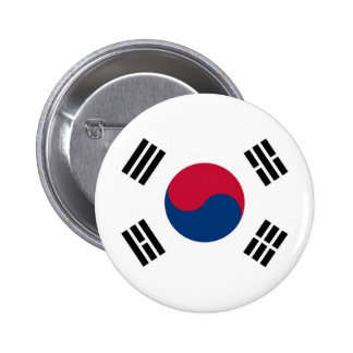 Flag of South Korea on Pin / Button Badge