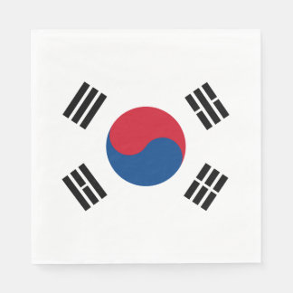 Flag of South Korea Paper Napkin