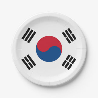 Flag of South Korea Paper Plate