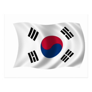 Flag of South Korea Postcard