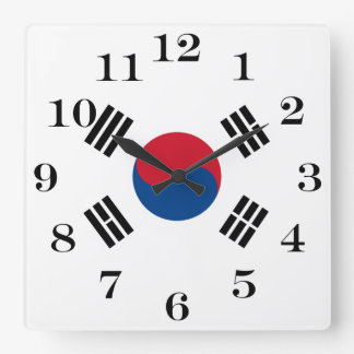 Flag of South Korea Square Wall Clock