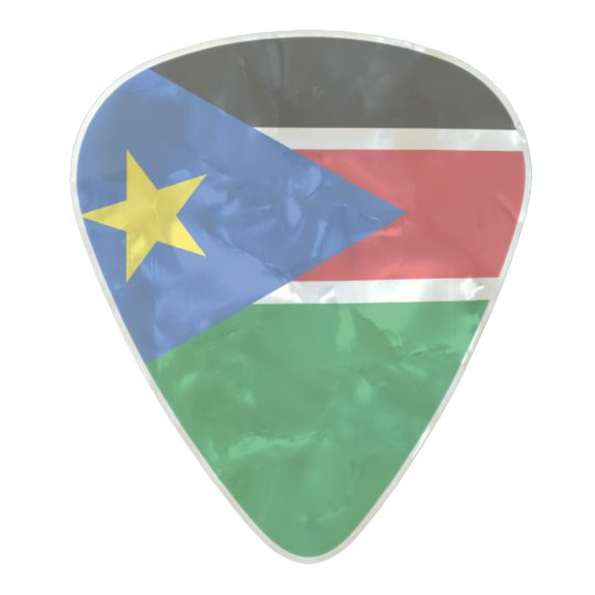 Flag of South Sudan Guitar Picks Pearl Celluloid Guitar Pick