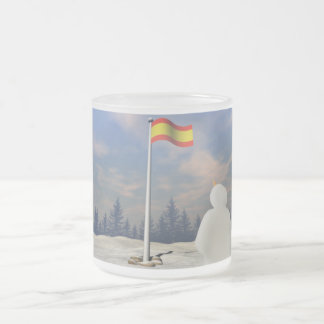 Flag of Spain 10 Oz Frosted Glass Coffee Mug