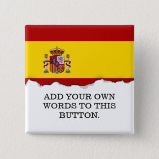 Flag of Spain 2 Inch Square Button