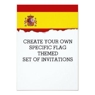 """Flag of Spain 5"""" X 7"""" Invitation Card"""