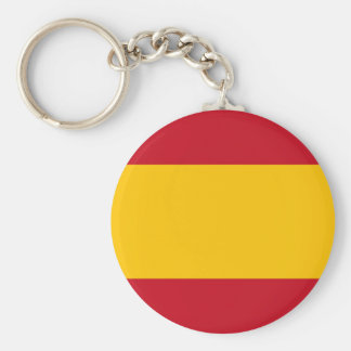 Flag of Spain, Bandera de España, Bandera Española Basic Round Button Keychain