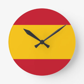 Flag of Spain, Bandera de España, Bandera Española Wallclock