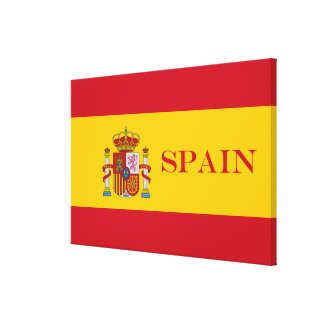 Flag of Spain - Bandera de Espana Canvas Print