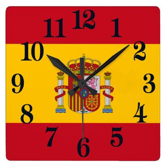 Flag of Spain - Bandera de Espana Clocks
