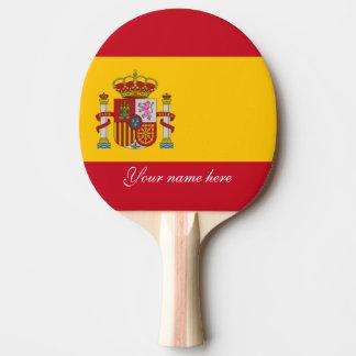 Flag of Spain - Bandera de Espana Ping Pong Paddle