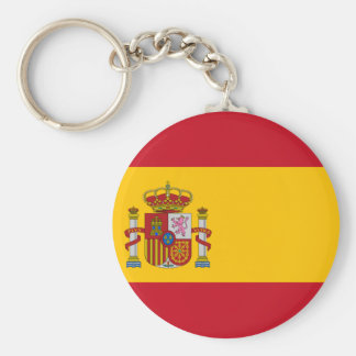Flag of Spain - Bandera de España - Spanish Flag Basic Round Button Keychain