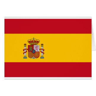 Flag of Spain - Bandera de España - Spanish Flag Card