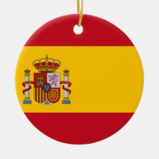 Flag of Spain - Bandera de España - Spanish Flag Ceramic Ornament