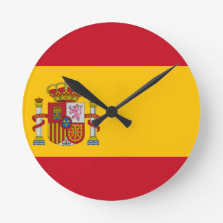 Flag of Spain - Bandera de España - Spanish Flag Round Clock