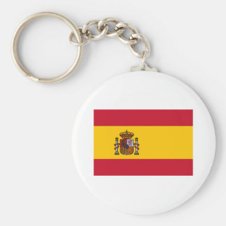 Flag of Spain Basic Round Button Keychain