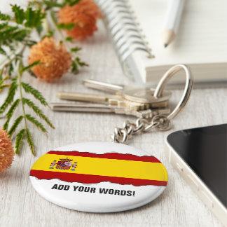 Flag of Spain Basic Round Button Keychain