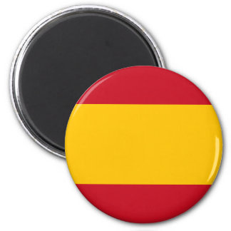 Flag of Spain Round Magnet