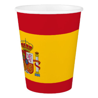 Flag of Spain / Spanish flag paper cup