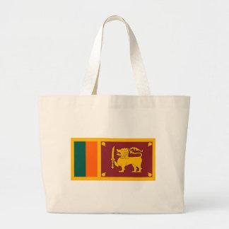 Flag of Sri Lanka (ශ්රී ලංකාවේ ජාතික කොඩිය) Large Tote Bag