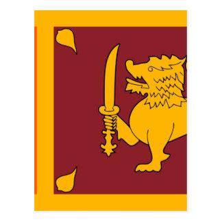 Flag of Sri Lanka (ශ්රී ලංකාවේ ජාතික කොඩිය) Postcard