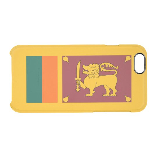 Flag of Sri Lanka Clear iPhone Case