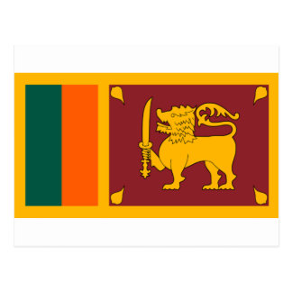 Flag of Sri Lanka Postcard