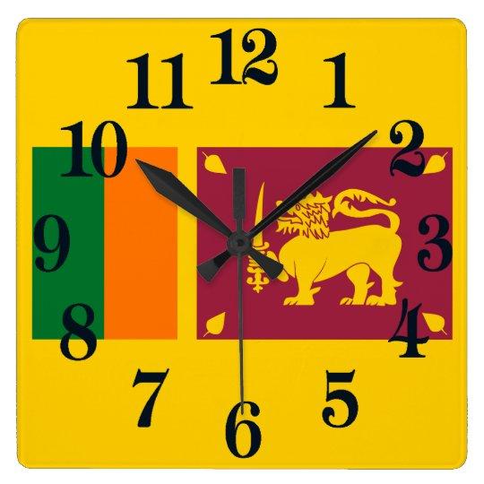 Flag of Sri Lanka Wall Clocks